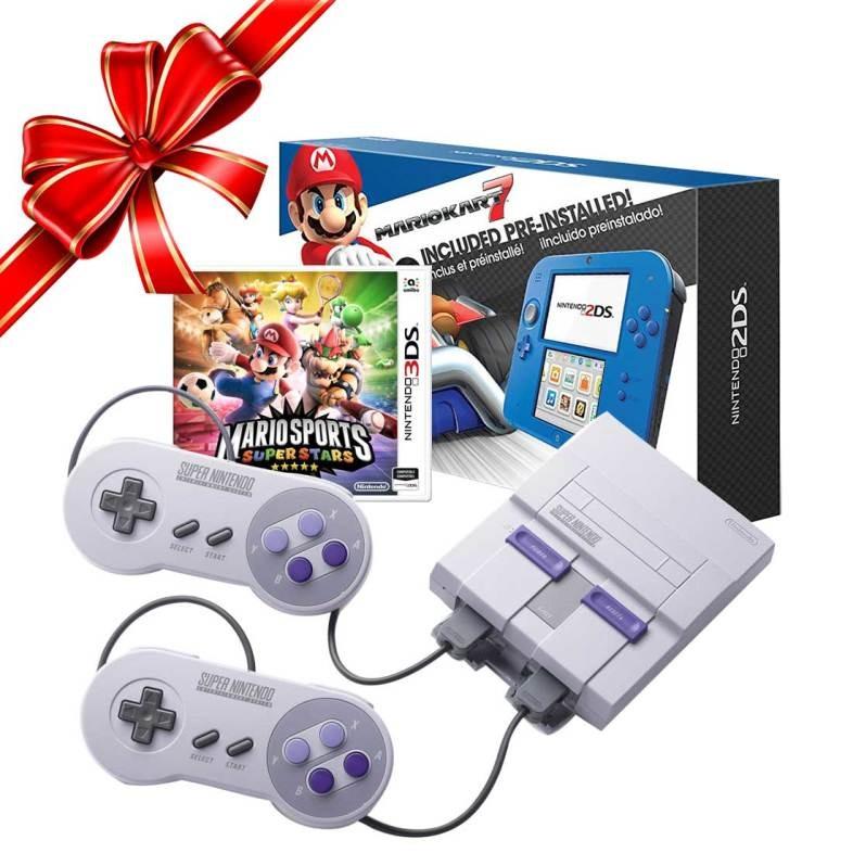 Tienda Oficial Nintendo en Mercado Libre: Snes Classic + Nintendo 2ds Mario Kart +sm Sports