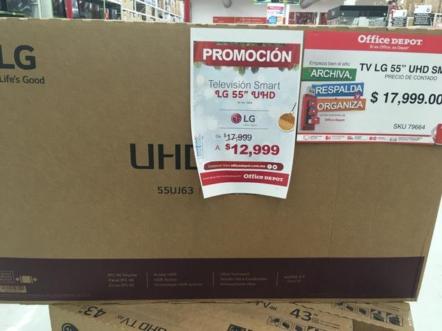 "Office Depot: Pantalla LG 55"" UHD modelo 55UJ63"