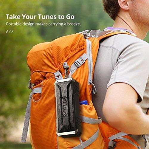 Amazon: Bocina Bluetooth 20w, Sonido Estéreo, Premium Dual-Drivers, Radiador Pasivo, Conexión AUX – color Negro Vtin