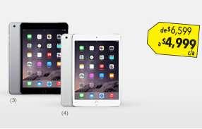 Cyber Martes Best Buy: iPad Mini 3 16GB $4,999 + $400 de bonificación con Banamex