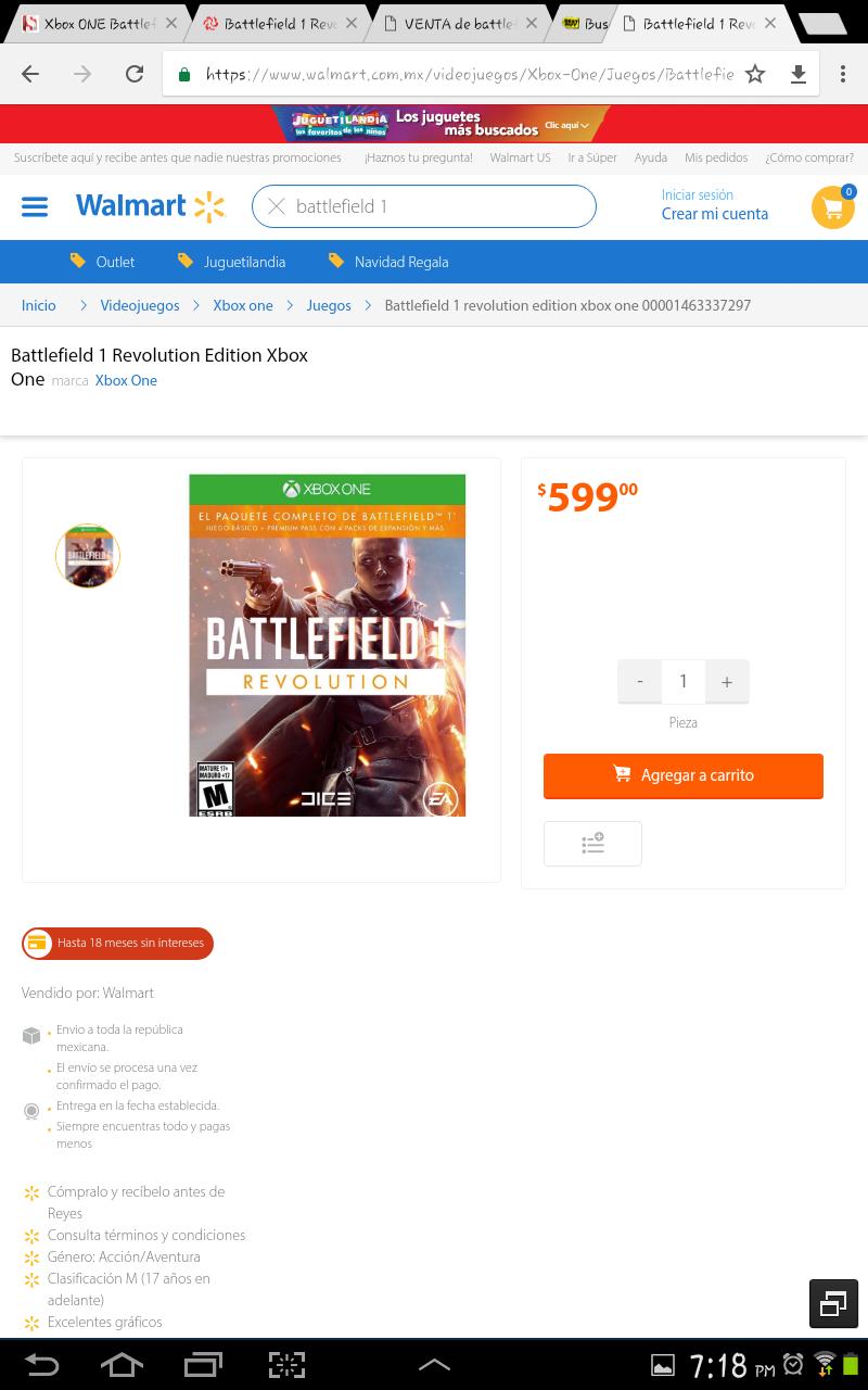 Walmart: Battlefield 1 Revolution Edition para Xbox One y PS4