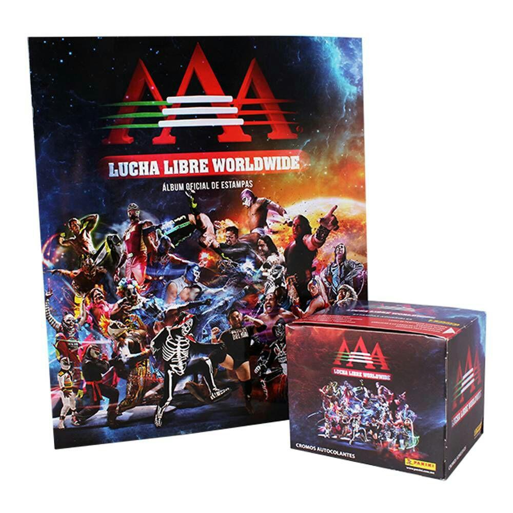 Walmart: Album con 50 Sobres de Colección Lucha Libre Worldwide marca Panini