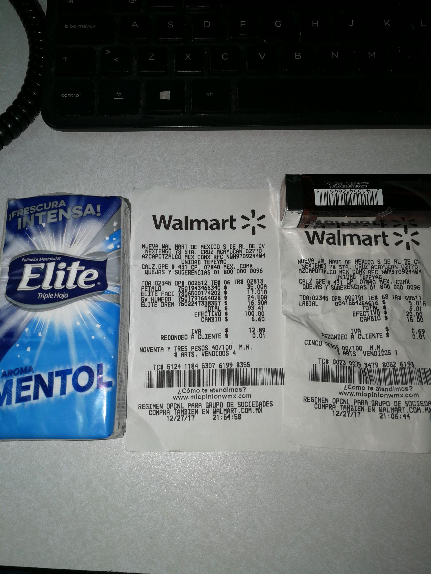 Walmart: Pañuelos con mentol y casi promonovela