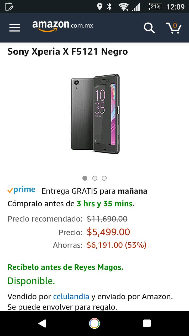 Amazon: Xperia X 32Gb (vendido por un tercero)