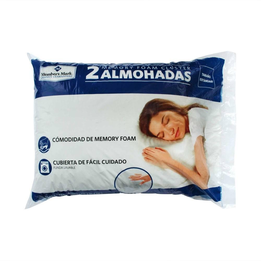 Sam's Club: Patio Santa Fe, Almohada Member's Mark Memory Foam 2 pzas