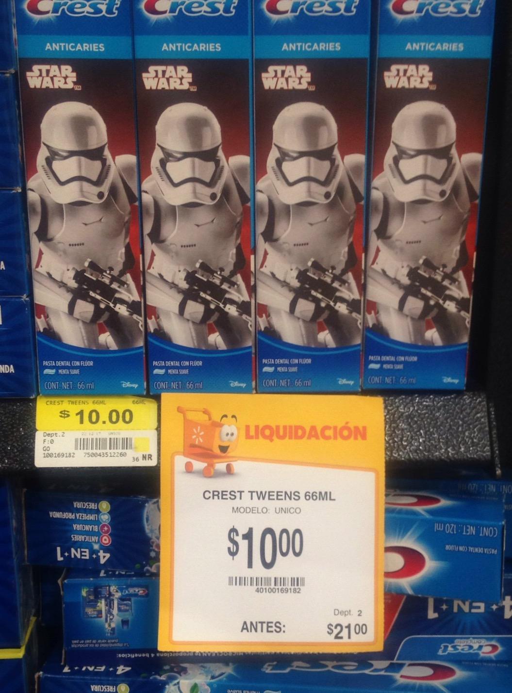 Walmart: Pasta Crest Star Wars $10.00