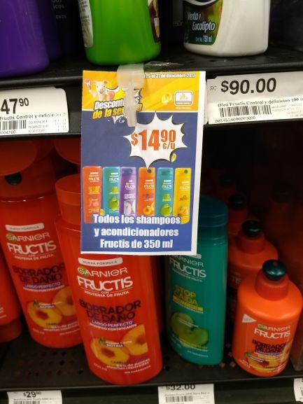 Chedraui: Shampoo y acondicionador Fructis de 350ml en $14.90
