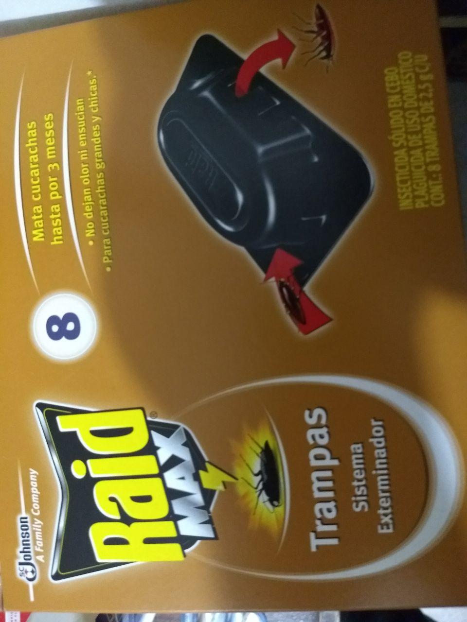 Chedraui: Primer Round PromoDescuentero Trampa Raid Exterminadoras Cucarachas 8 Pz