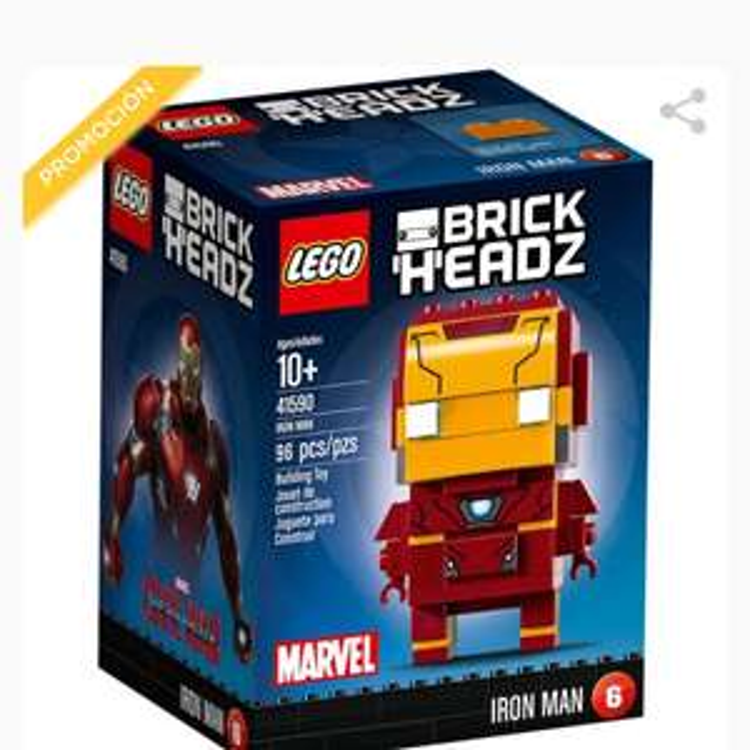 EL PALACIO DE HIERRO: LEGO BRICKHEADZ IRON MAN