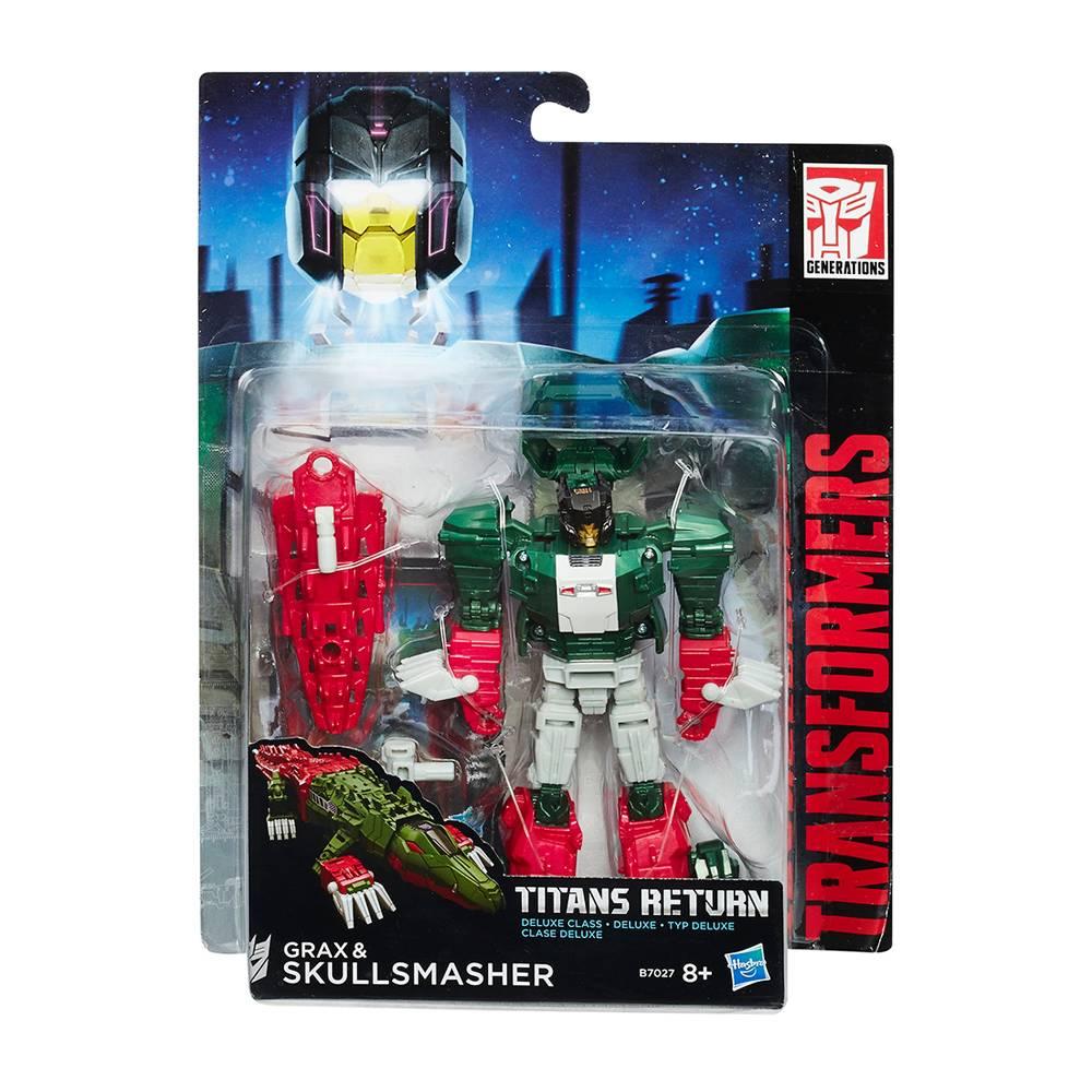 Walmart online: Figura Grax and Skullsmasher Transformers Titans Return Deluxe