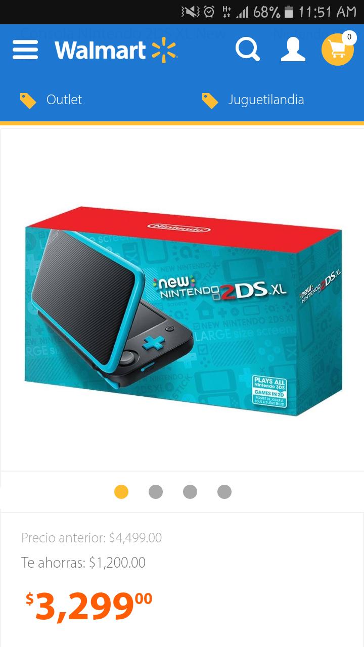 Walmart: Consola Nintendo 2DS XL New