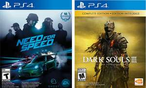 Sanborns: Need for Speed ($199), Dark Souls III The Fire Fades Edition ($509) para PS4 / Xbox One