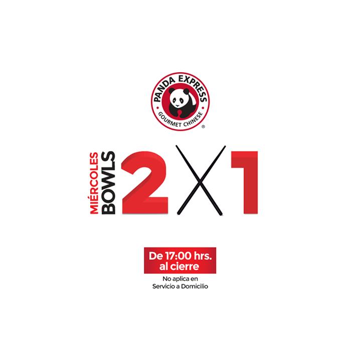 Panda Express: 2x1 en bowls miércoles después de las 5 pm
