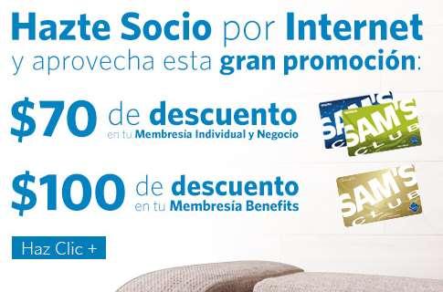 Sam's Club: hasta $100 de descuento en membresía
