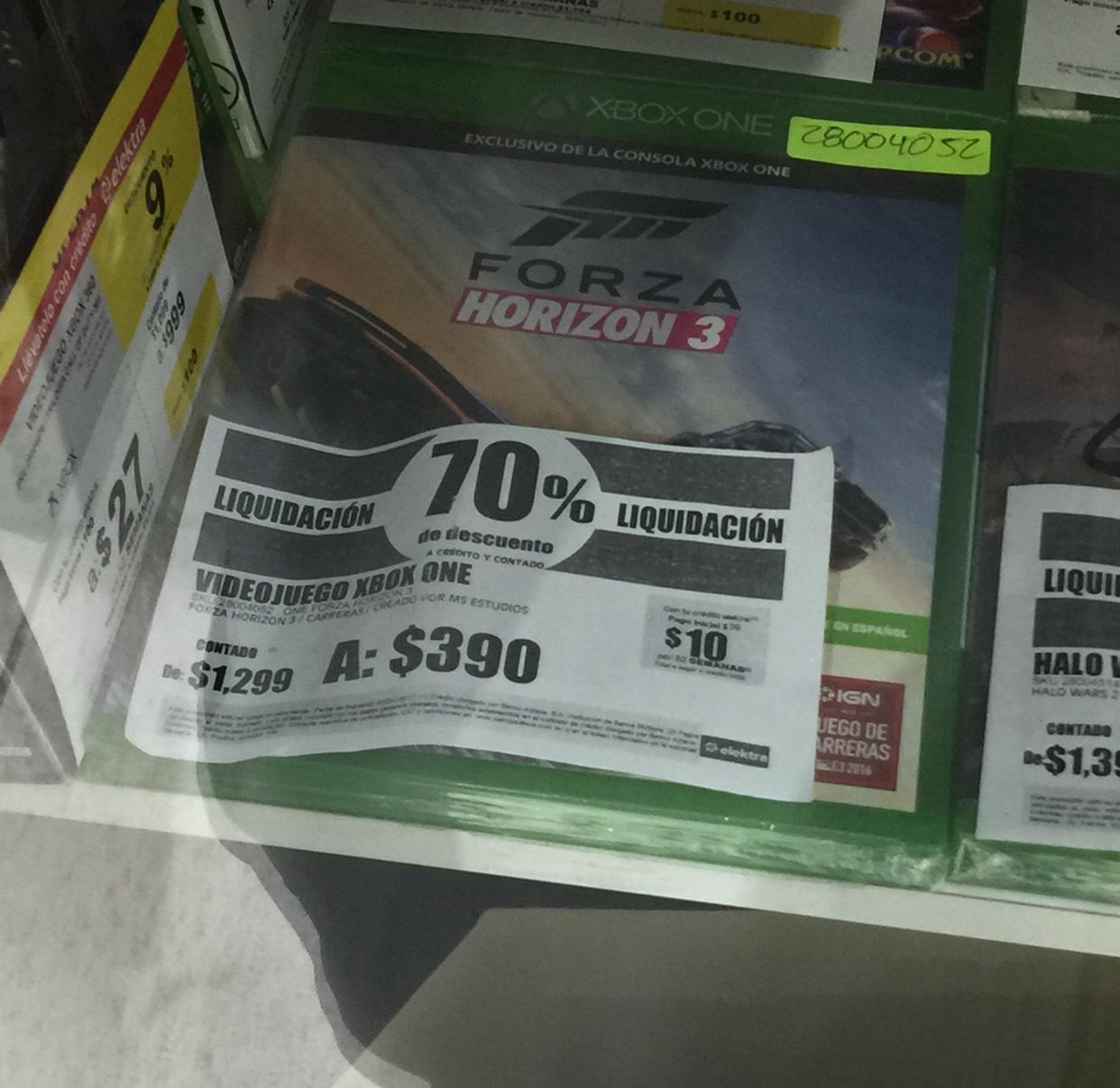 Elektra: juego Forza Horizon 3 para Xbox One en tienda física