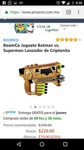 Amazon: Pistola dardos Batman v Superman (o Halo Blaster)
