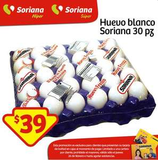 Soriana: Cartera de Huevo $39.00