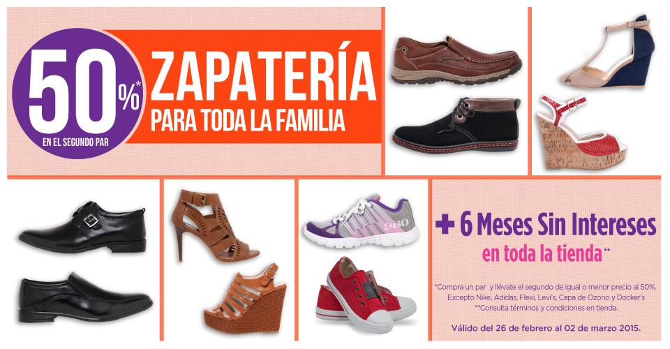 Suburbia: zapatería 50% de descuento en el segundo par