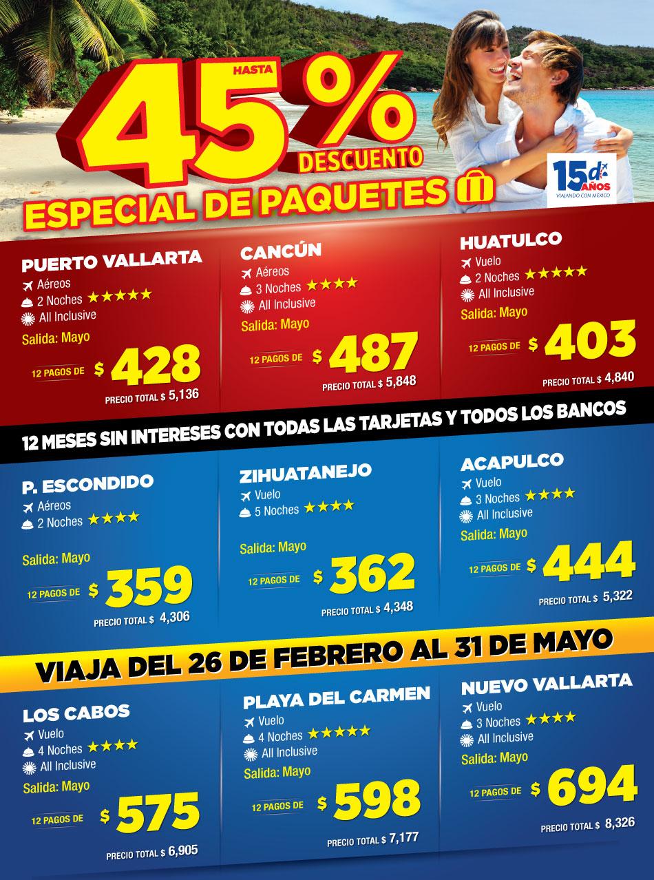 HASTA 45% de descuento en paquetes de viaje en Despegar.com