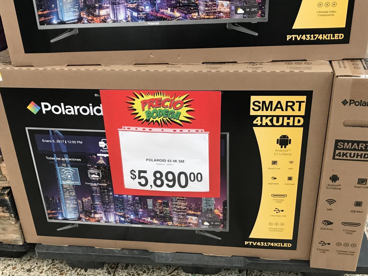 """Bodega Aurrerá: Pantalla 43"""" Polaroid 4K a $5,890"""