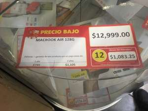 Walmart: MacBook Air 128GB, Core i5 a $12,999