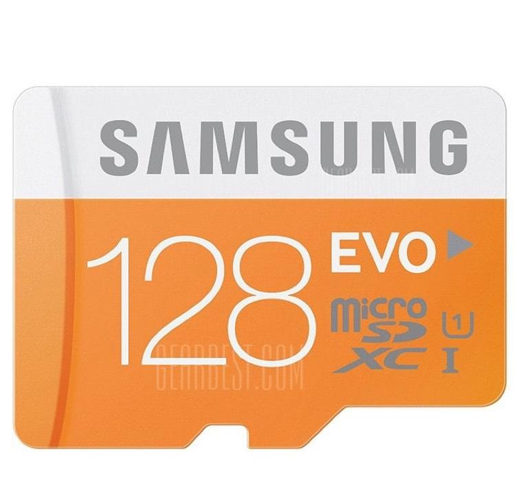 GearBest: Tarjeta de Memoria Samsung 128GB EVO Categoría 10