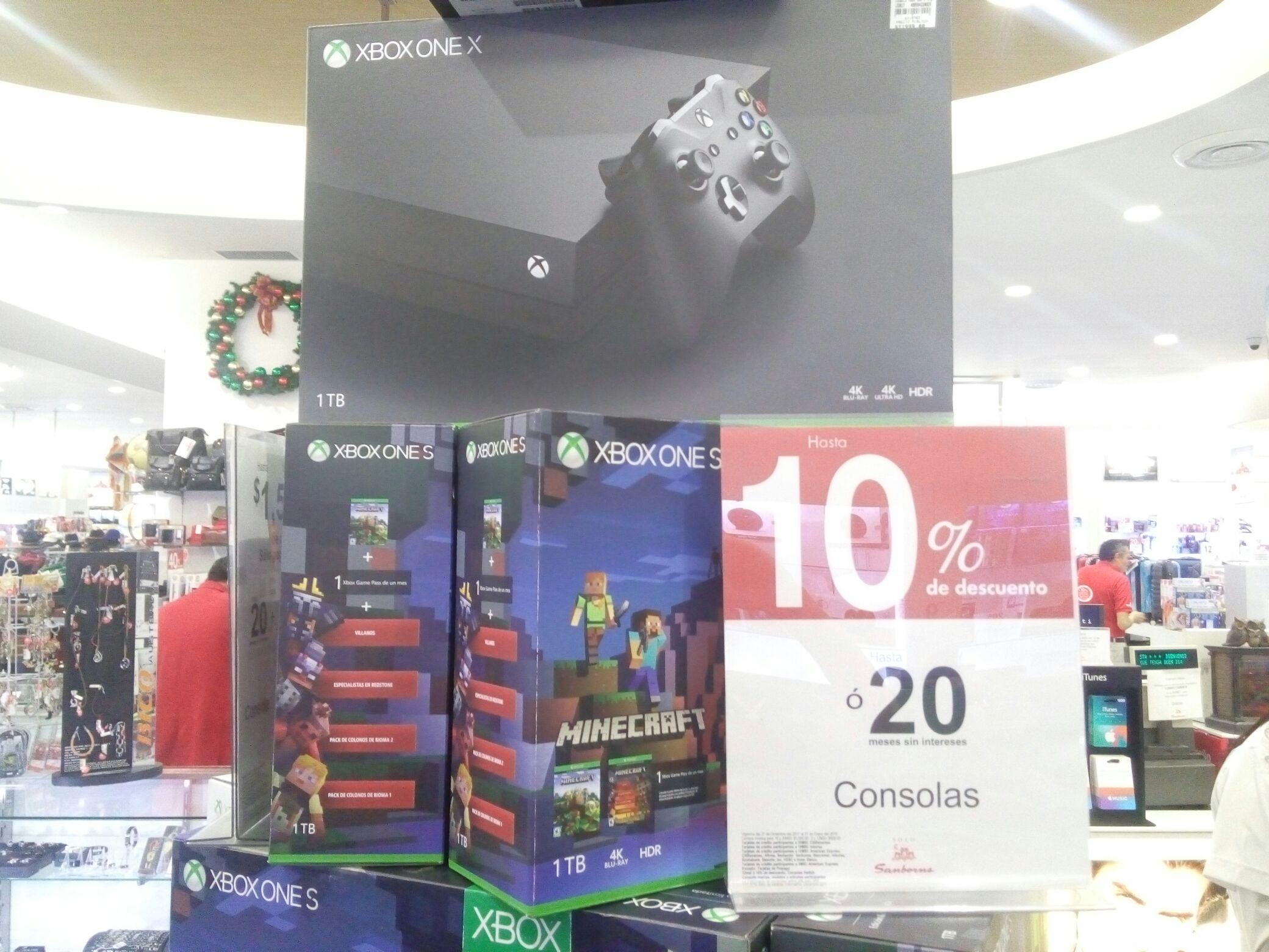 Sanborns Fórum Buenavista: Xbox One X con 10% de descuento.