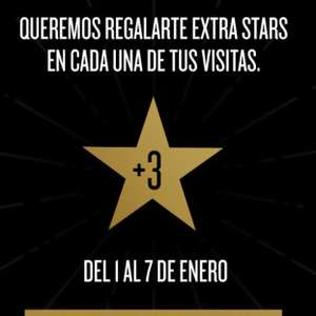 Starbucks: Triples Stars del 1 al 7 de Enero  miembros gold