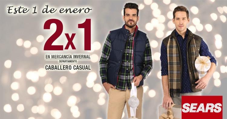 Sears: 2X1 mercancías de invierno para caballero