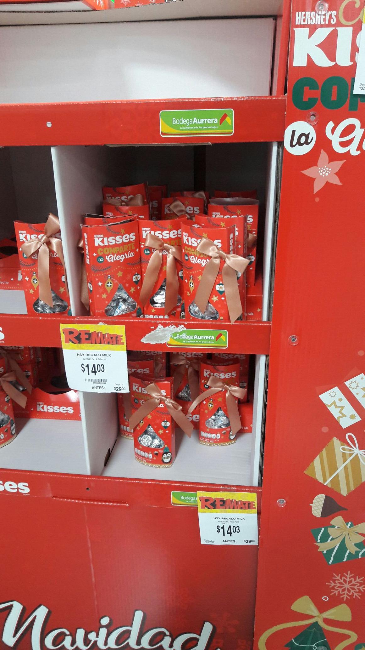 Bodega aurrera:Chocolates kisses hershey