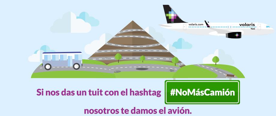 Volaris regala vuelo sencillo a cambio de un tweet #NoMásCamión