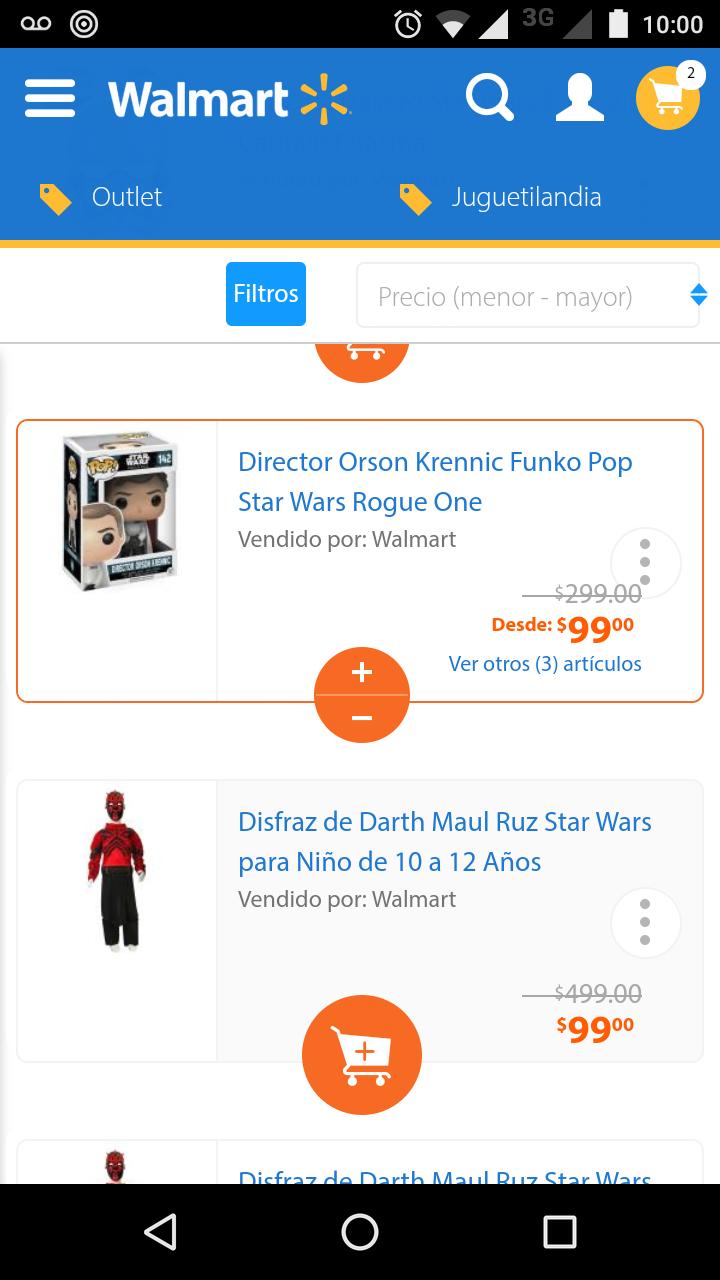 Walmart en línea: funko pop director orson krennic