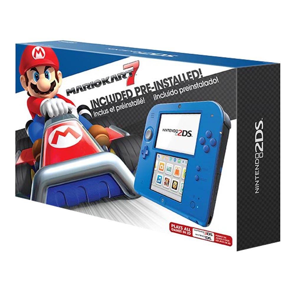 Walmart en línea: Consola Nintendo 2DS con Mario Kart 7 Azul