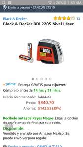 Amazon: Nivel láser black & decker con prime