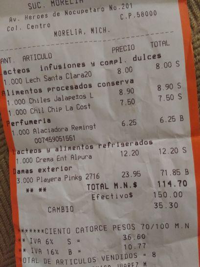 Chedraui Morelia: Alaciadora Remington $6.25