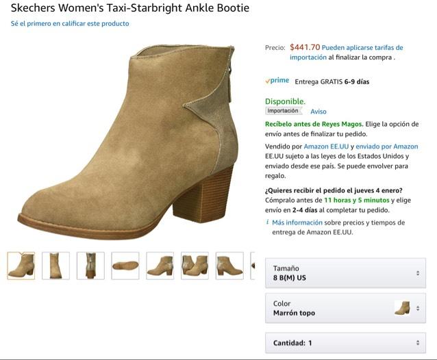 Amazon: botas Skechers envío gratis con prime - varias tallas en menos de 500