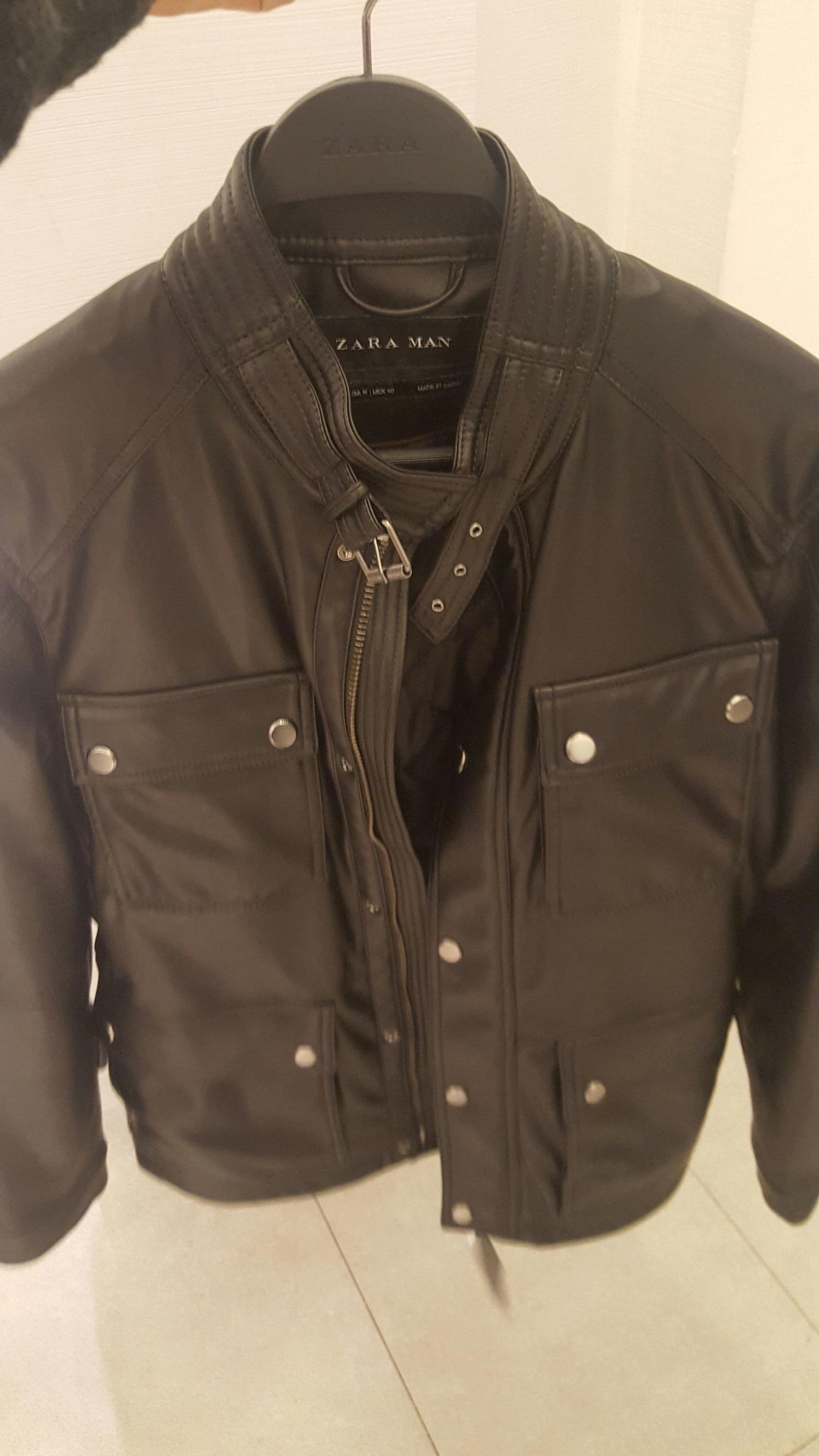 Zara: Cazadora imitación piel p/caballero