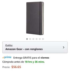 Amazon México: Cuaderno Amazon Gear, tapa dura, rayas, 12.7 x 21 cm