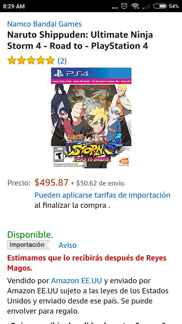 Amazon: Naruto ultimate ninja storm 4 road to boruto - Playstation 4