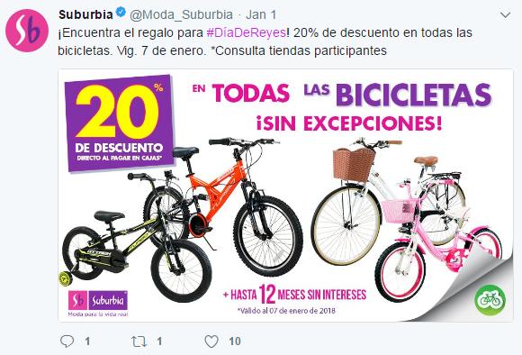 Suburbia: 20% en todas las bicicletas + 12MSI