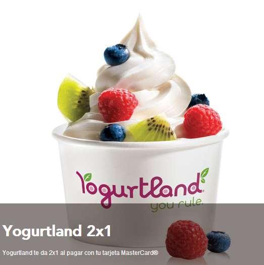 Yoghurtland: 2x1 con MasterCard