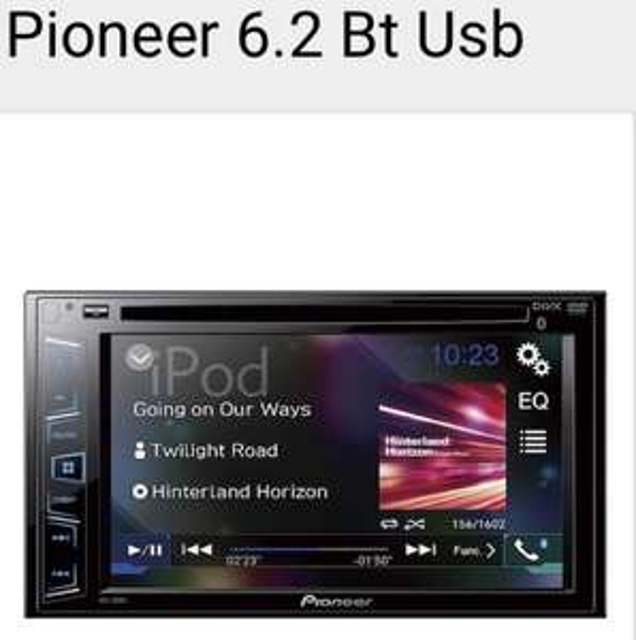 Sears: Autoestéreo pioneer doble din con Bluetooth USB DVD entrada auxiliar