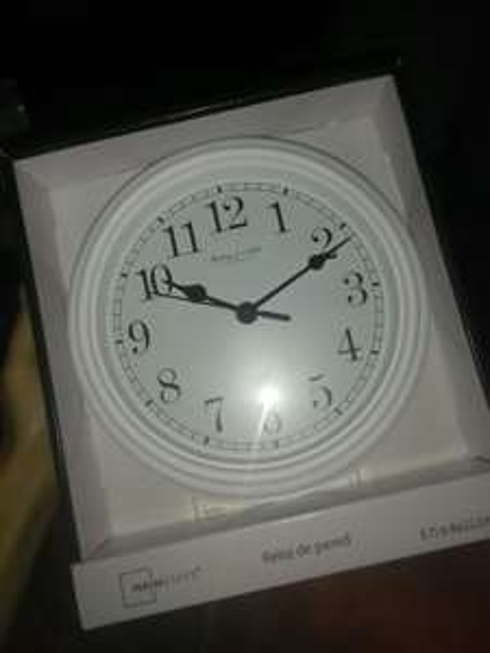 Bodega Aurrerá: Reloj de pared blanco $12.01