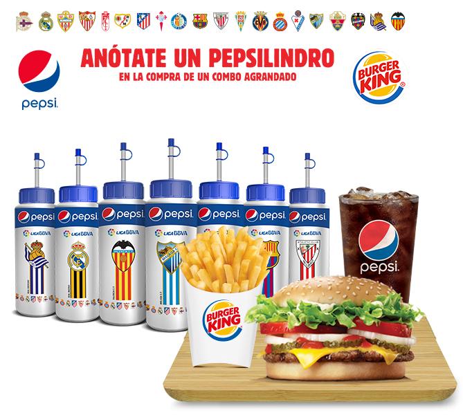 Pepsilindros del Real Madrid, Barcelona, Atlético y otros equipos en Burger King