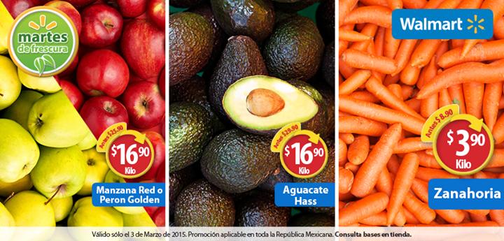 Martes de frescura en Walmart marzo 3: zanahoria $3.90 el kilo y más