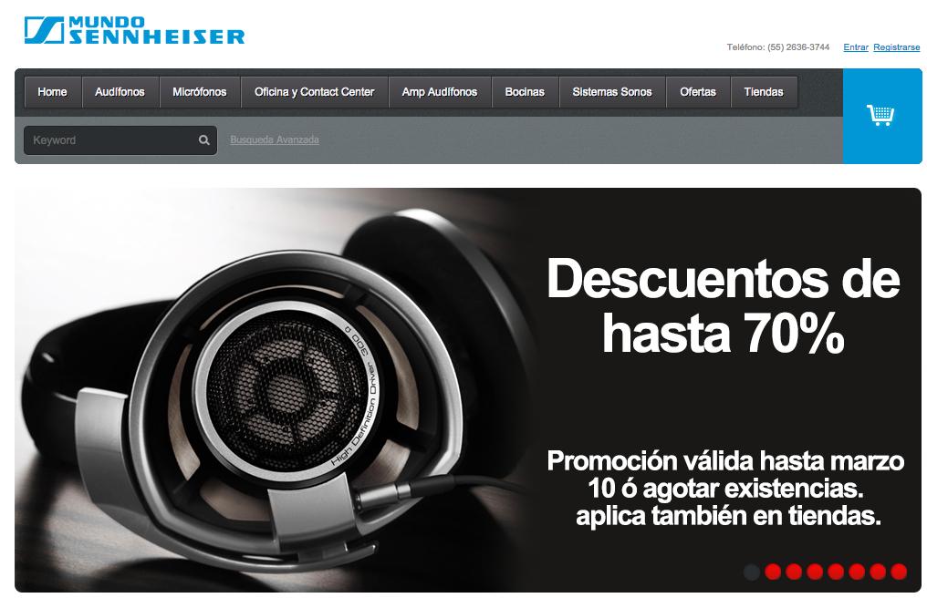 Mundo Sennheiser: Audifonos con descuentos del 20% al 70%