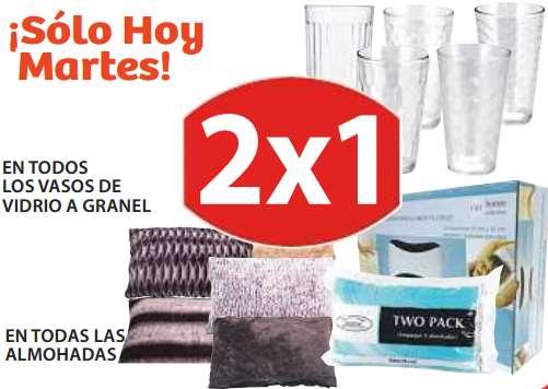 Soriana: 2x1 en vasos de vidrio y almohadas. 4x2 en papel higiénico de 16 o más