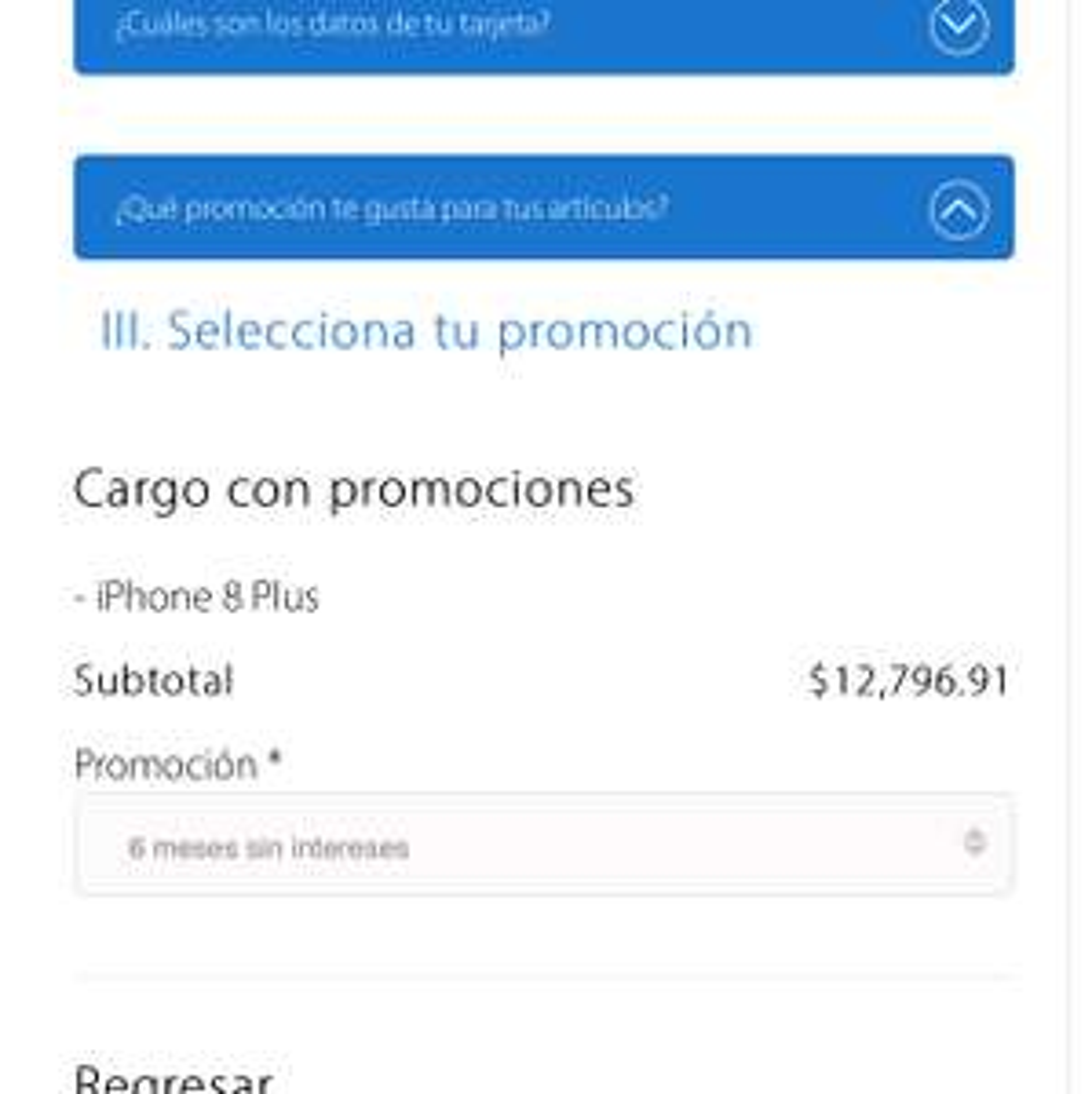 Sam's Club:  IPhone 8 Plus con tarjeta Sam's Inbursa (Sólo para entrega en algunos clubes de Baja California y Sinaloa)