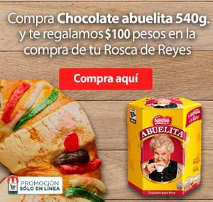 HEB: al comprar chocolate te descuentan $100 al agregar rosca de reyes valido solo en linea