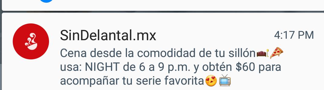 Sin Delantal: cupón $60 de descuento de 6 pm a 9 pm